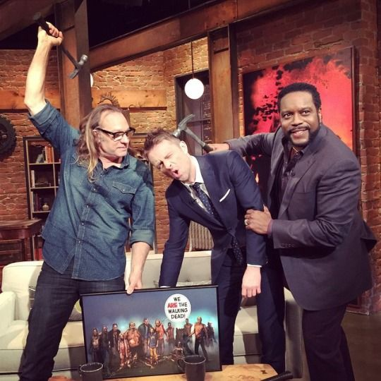 Talking Dead host gets beat down from Tyreese's hammer.