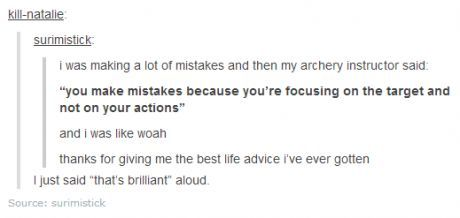 """I actually DID say, """"That's brilliant"""" out loud, and now I'm smiling like a fool cause I'm not alone"""