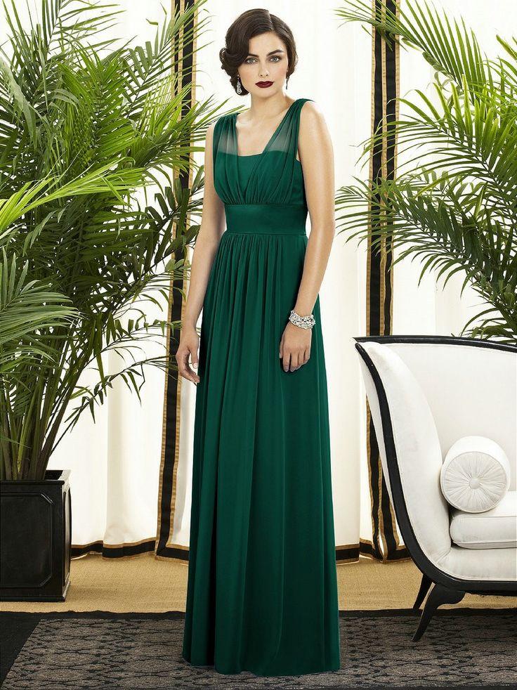 Bridesmaids, chiffon, dresses, green