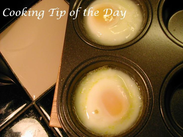 Cooking Tip of the Day: How to Make Poached Eggs in the Oven..... having a brunch?... consider poached eggs!... Make show stopper Eggs Benedict  ...you can make them easily for a crowd... use your oven to make the poached eggs ... so easy! ...  click for step by step instructions