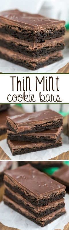 Thin Mint Cookie Bars - an easy cookie bar that tastes just like a Girl Scout Cookie Thin Mint!! (delicious chocolate ovens)