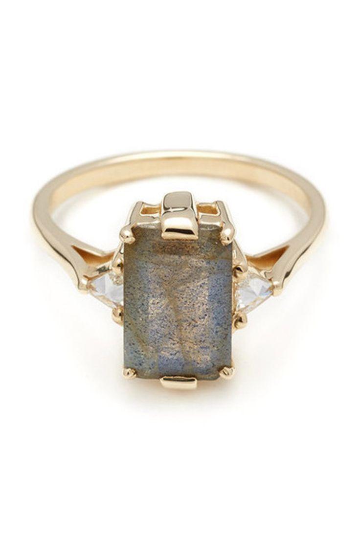 Anna Sheffield Labradorite Bea Engagement Ring