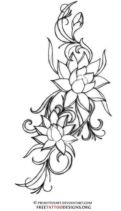 Lotus Flower Tattoo. A Lotus To Represent A New Beginning, Or A Hard Time In Life That Has Been Overcome. - Click for More...