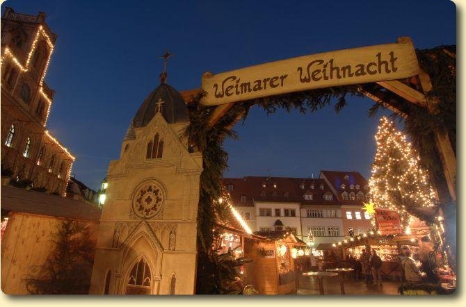 Weimar, Germany - Christmas Market entrance
