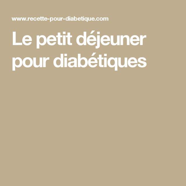 Le petit déjeuner pour diabétiques