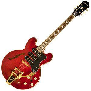 Epiphone Riviera Custom P93 Semi Acoustic Guitar, Wine Red