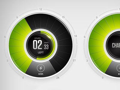 Dribbble - Greenlots application. GUI by Higher