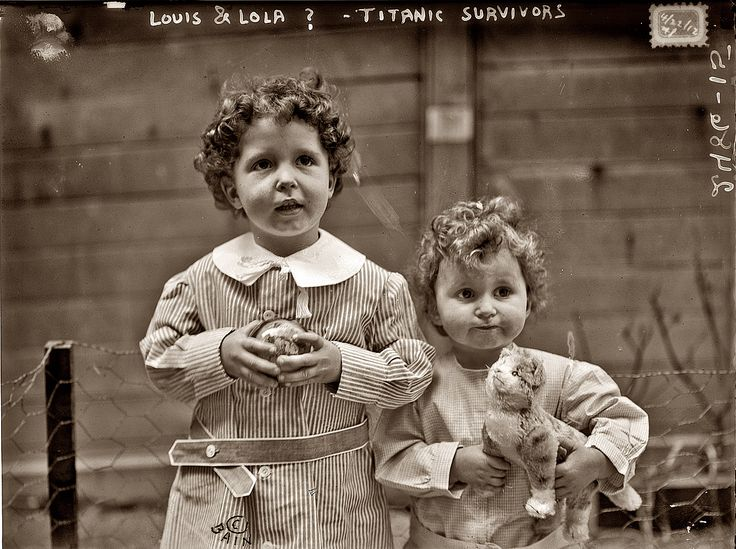 """""""Louis and Lola"""" were Michel and Edmond Navratil (age: four & two). They were known as the Titanic Orphans, the only children rescued without a parent or guardian.  It turned out their father had kidnapped them and their mother was alive in France.  Michel was the last male survivor of the Titanic, dying in 2001."""
