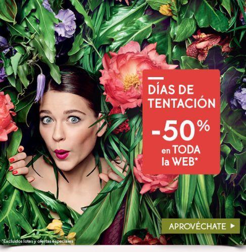 Un 50% de descuento en toda la web de Yves Rocher