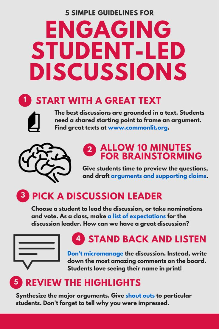 5 Simple Guidelines for Engaging Student-Led Discussions   www.commonlit.org