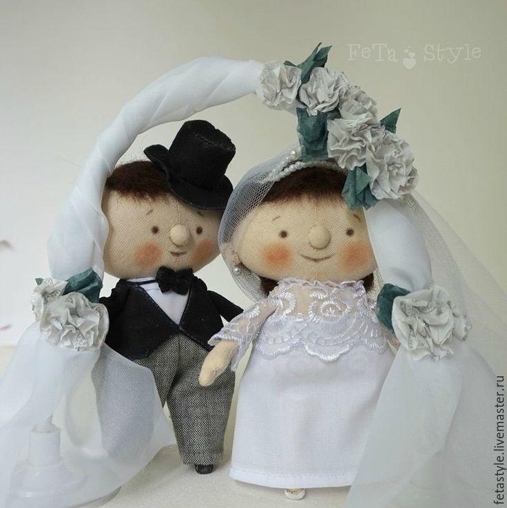 Купить Жених и Невеста Свадьба Куклы текстильные Подарок на свадьбу - кукла текстильная, куклы из ткани