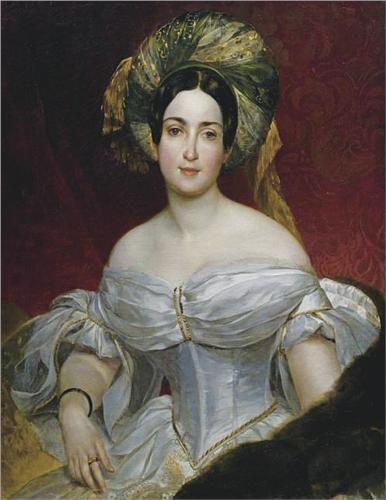 Portrait of Aurora Demidova - Karl Bryullov: