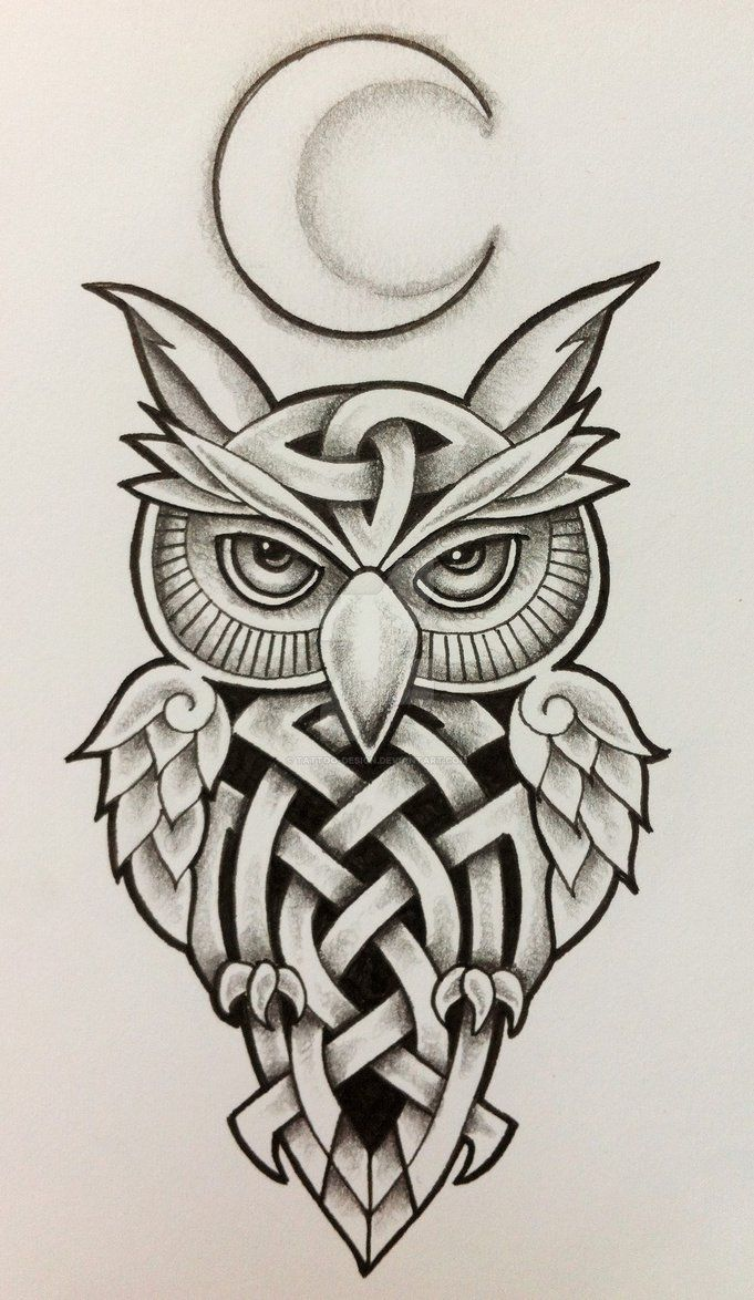 tattoo owl coloring pages - photo#14