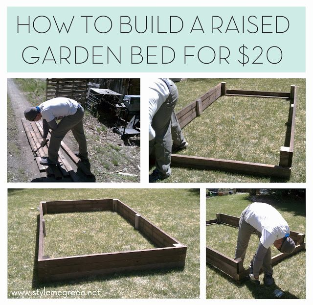 HOW TO BUILD A RAISED PLANTER BED FOR $20