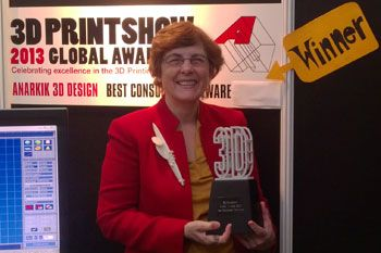 Anarkik 3D  3D printing, modelling and more. Met Ann Marie, CEO, recently at an iMark launch event in London. They won an awesome award at the 2013 3D Printing Global Awards this month for Best Consumer Software!