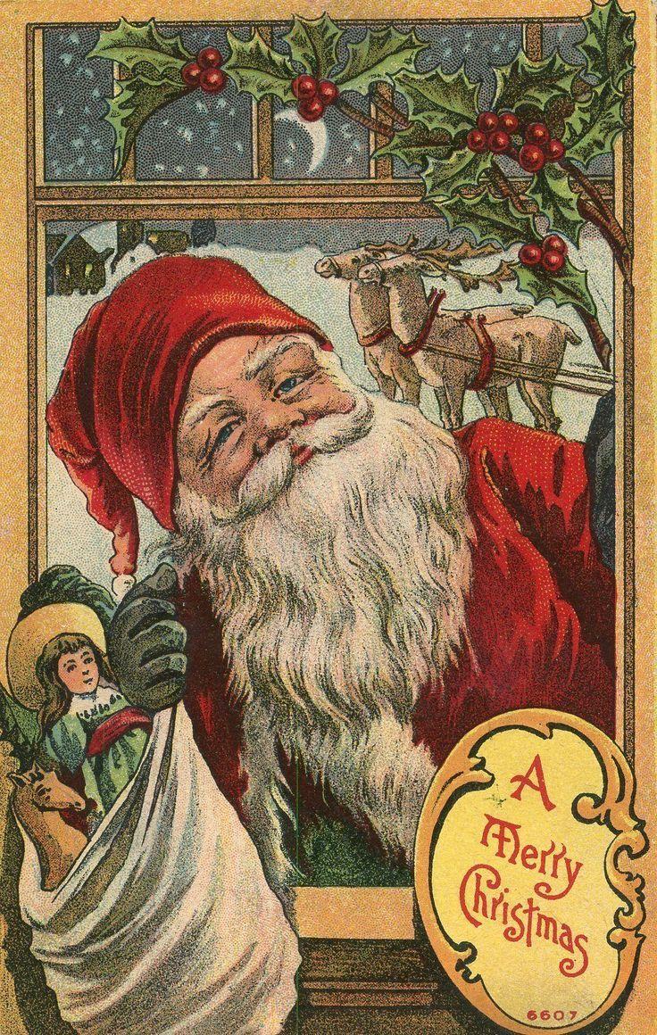 1507 best Vintage Christmas Cards images on Pinterest   Vintage ...