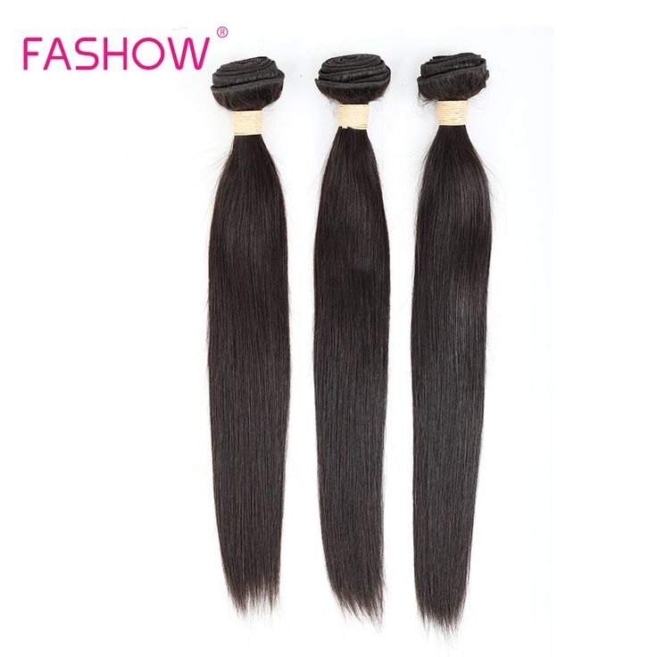 Fashow Brazilian Straight Hair 3 Bundles 100% Huma…