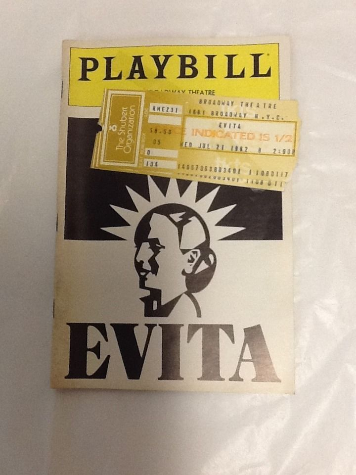 Evita 1982 Playbill Loni Ackerman Anthony Crivello David Cryer Nancy Opel Hunt