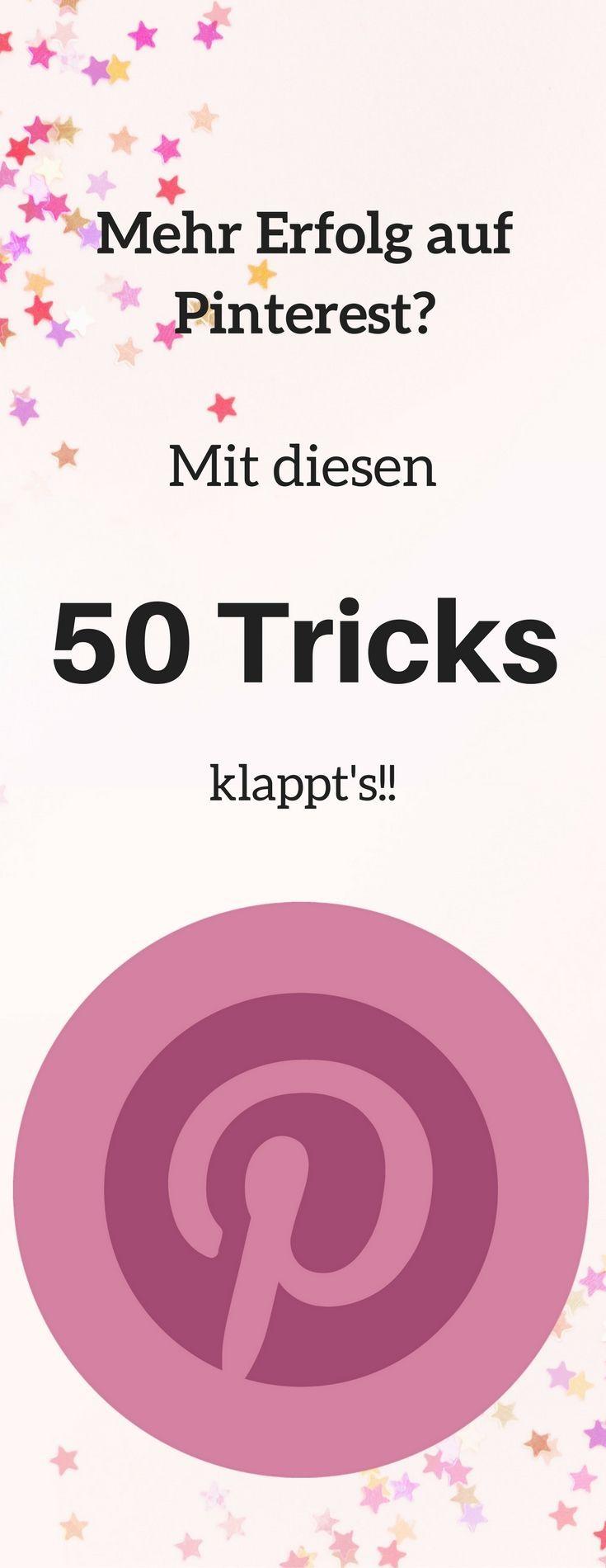 #erfolg #pinterest #tricks #50