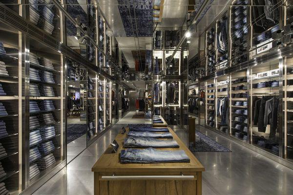 "DIESEL, Brompton Road, Knightsbridge, London, UK, ""Project: Diesel"", (Befitting of the brand's innovative and progressive approach), pinned by Ton van der Veer"