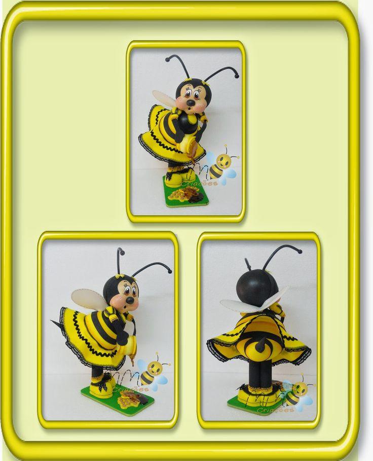 MMCRIACOES: molde abelhinha embalagem - em e.v.a