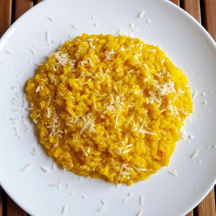 Tijdens de Masterchef masterclass van Marco Pierre White maakte hij een risotto alla Milanese. Ik heb het recept uitgeschreven.