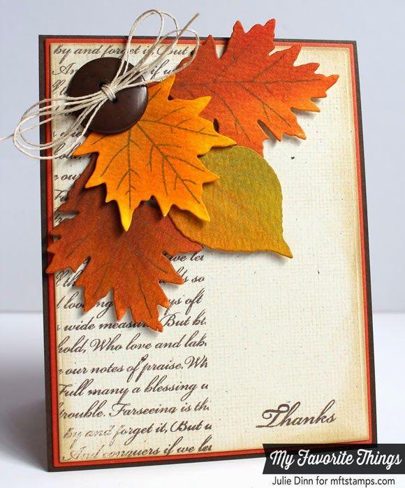 handmade Thanksgiving card ... Kreative Jewels: Watercolor Wonder ... beautiful autumn leaves ...
