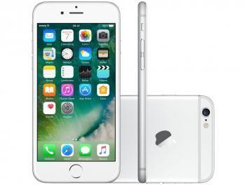 "iPhone 6 Apple 16GB Prata Tela 4,7"" Retina 4G - Câmera 8MP + Frontal iOS 10 Proc. M8 Touch ID"