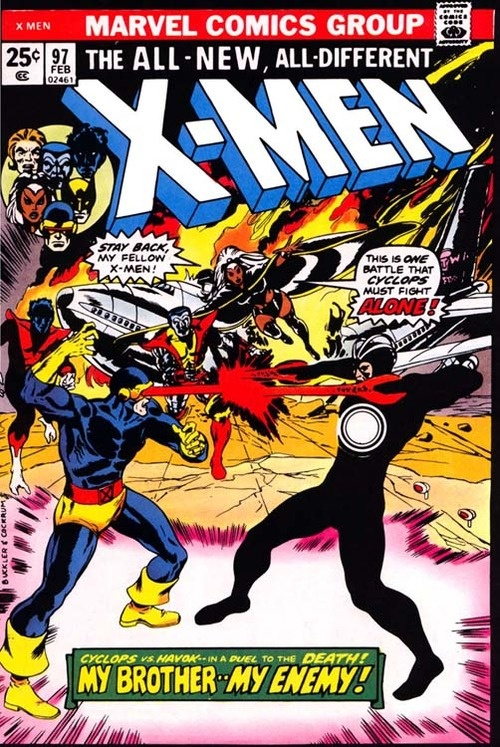 Uncanny X-Men #97, february 1976, cover by Rich Buckler and Dave Cockrum.