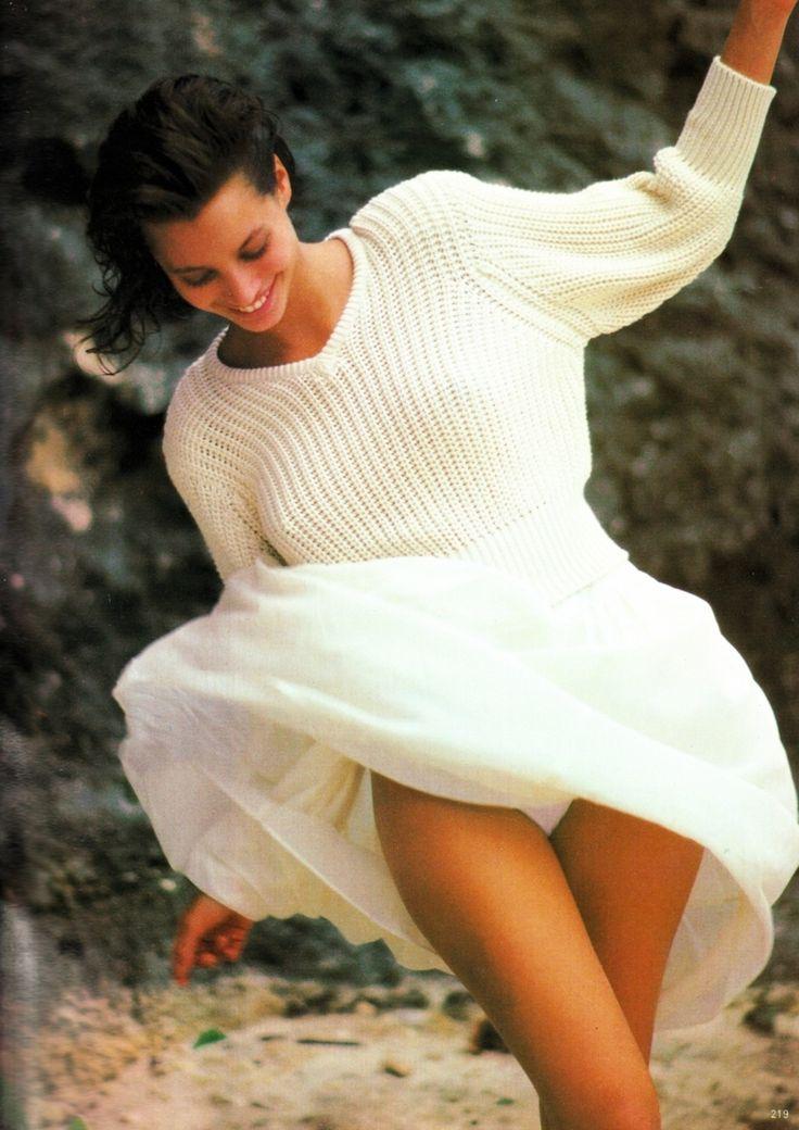 Christy Turlington shot by Arthur Elgort for Vogue UK, December 1986