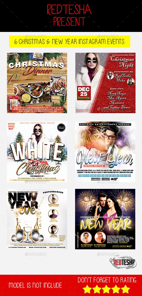 Christmas & New Year Instagram Banner Template PSD