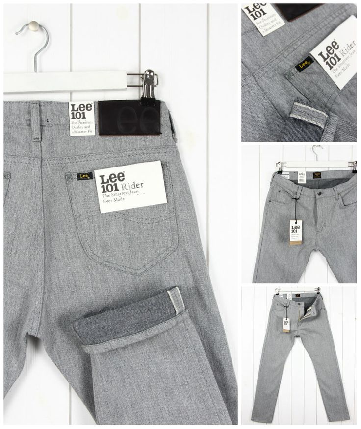 NEW  LEE 101 RIDER 11oz JEANS SELVAGE FABRIC DENIM TAPERED SLIM  FIT_ ALL SIZES