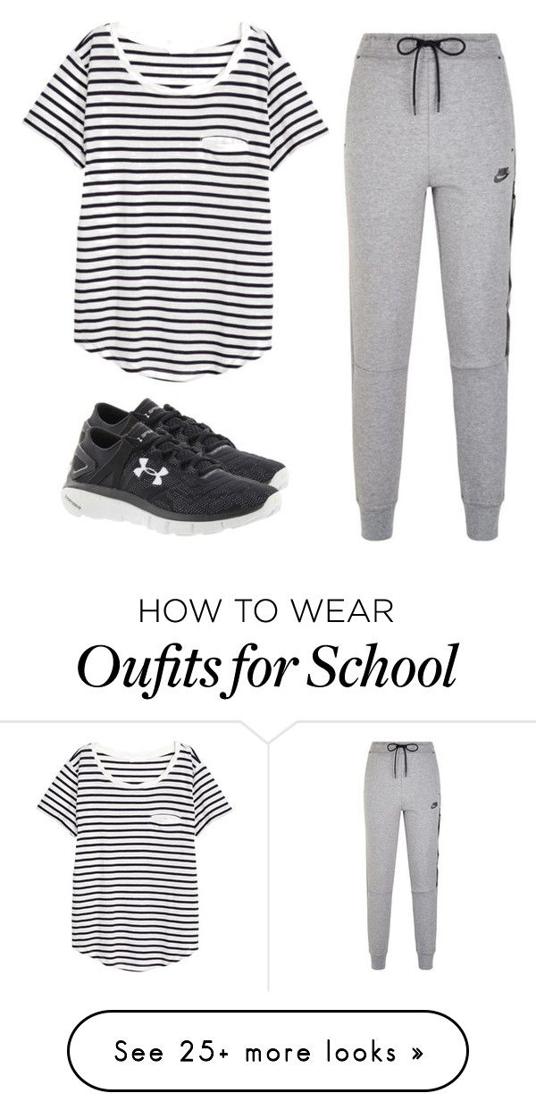 """""""Community day at school"""" by melw44 on Polyvore featuring NIKE, Under Armour and H&M"""