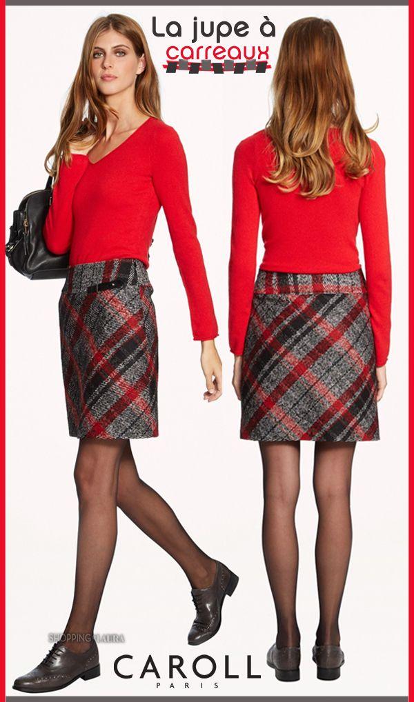 Trop chouette, cette Jupe courte Chiara à carreaux ! Signée Caroll, elle est la jupe de tous les jours avec un petit plus couture qui n'est pas pour nous déplaire, nous les fans de la mode ! J'adore son empiècement large de taille et puis le rouge, on en raffole !