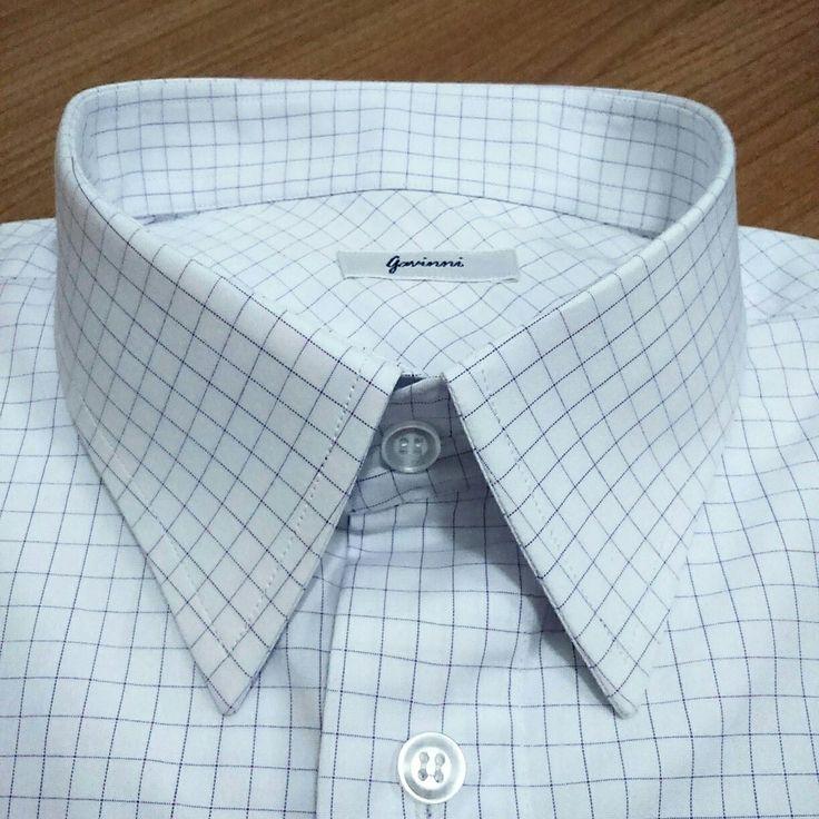 Colarinho Clássico  Camisa Masculina social quadriculada