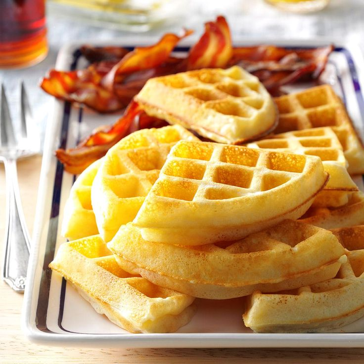 Raised Yeast Waffles Recipe -These waffles bake up crispy on the outside and light and tender on the inside. Since they aren't too filling, they leave room for sampling the rest of the brunch buffet—or for munching on more waffles!