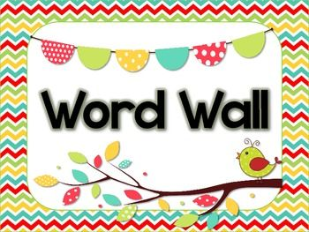 Free Word Wall header and Alphabet Cards