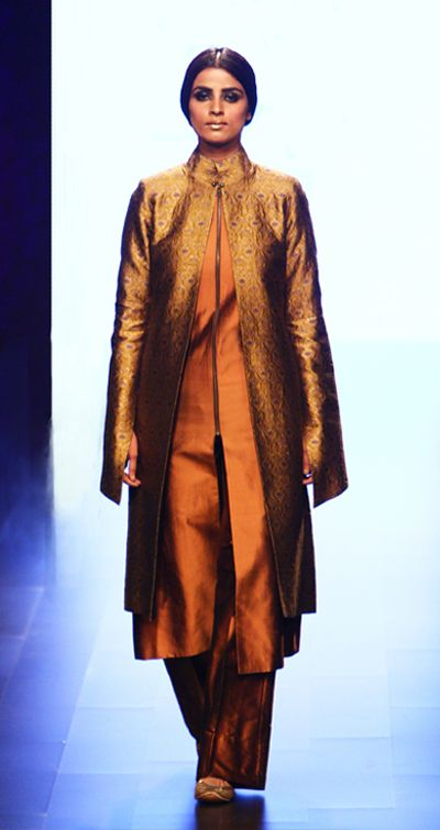 payalkhandwala - AW/2016 - Silk Kurta, Brocade Jacket and Trousers
