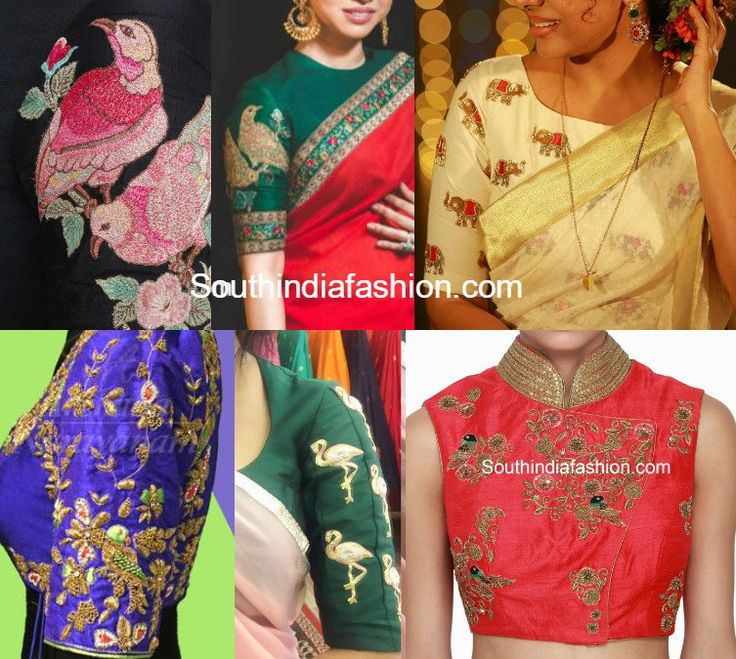 Animal and Bird Motif Saree Blouses