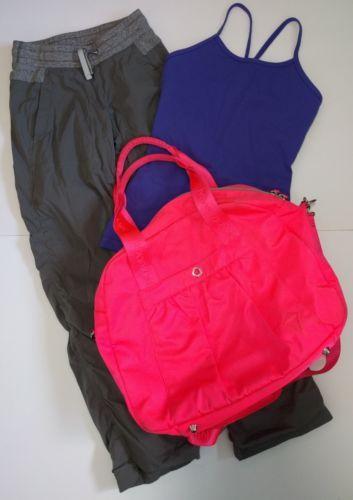 Ivivva Lululemon Live To Move Studio Pants Tank & Bag Lot Size 8-12 Outfit