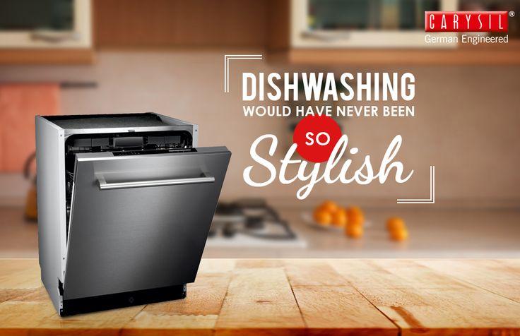 Wash down your dishwashing worries with Carysil's Fully Built-in Dishwasher #CarysilKitchen #Dishwasher #Kitchen