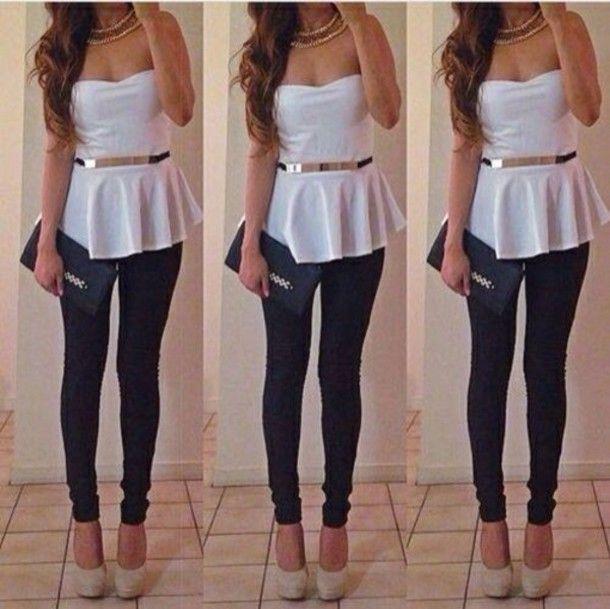xpls01-l-610x610-tank-top-white-gold-peplum-top-jewels-belt-shoes-shirt-jewelry-peplum-boobtube-skater-top-tshirt-fit-and-flare-flared-blouse-white-peplum-top-white-metal-gold-waist-belt-cute-summe.jpg (610×609)