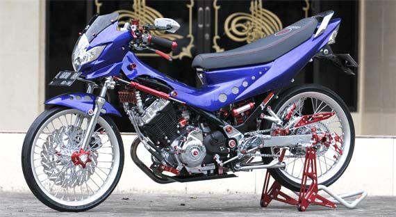 gambar foto modifikasi motor satria fu standar