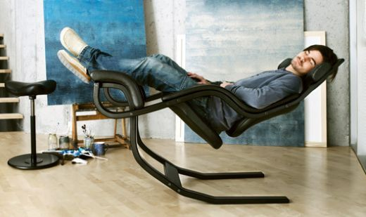 "Varier's Zero Gravity Recliner - fully reclined position is ""probably the closest you will get to zero gravity"", because in it one ends up in a position where the feet are higher than the heart."