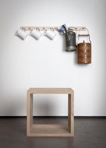 Ethnicraft Oak Cube Table - Closed