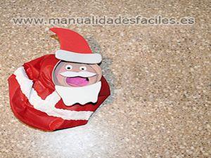 Papa Noel con material reciclado