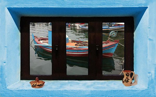 Window Into Greece 6 Outlook.  A New collection of digital paintings by Eric Kempson Eftalou, Molyvos, Lesvos, Greece  http://eric-kempson.artistwebsites.com www.epsilon-art.com