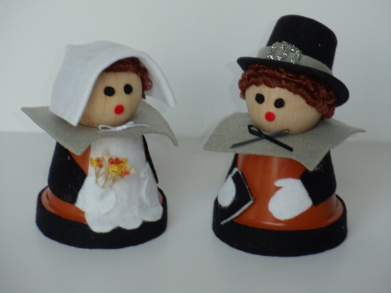 Fall Pilgrim Couple Thanksgiving Home Decor Doll  by NaturesWhimzy, $24.00