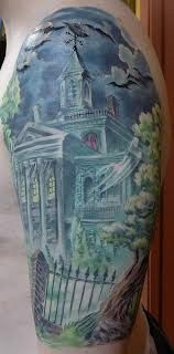 Disney's Haunted Mansion tattoo (this is the exact color I want for my own piece for my half sleeve. I can't wait to get this someday!)