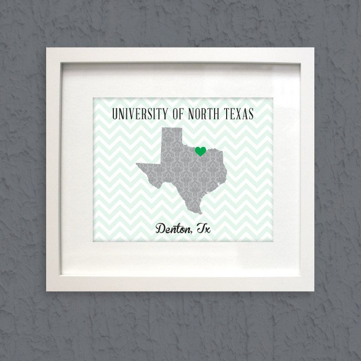 University Of North Texas Denton TX Chevron By LoubeeDesigns 795